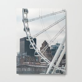 Old Port of Montreal and Ferris Wheel  Metal Print