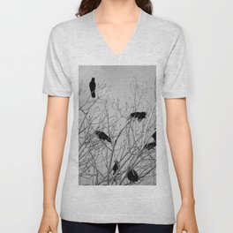 Murder Of Crows - Five Unisex V-Neck
