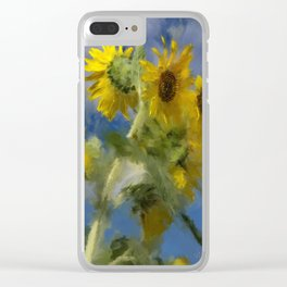 An Impression Of Sunflowers In The Sun Clear iPhone Case