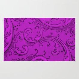 Dazzling Violet Swirls Rug