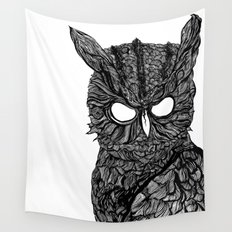 Demon Owl Wall Tapestry