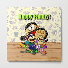 Happy Family! Metal Print