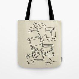 Homer's Time Machine Tote Bag