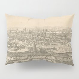 Vintage Pictorial Map of London England (1750) Pillow Sham