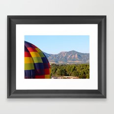 Up Up and Away in Boulder, Colorado Framed Art Print