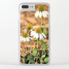 Last Of The Cone Flowers Clear iPhone Case