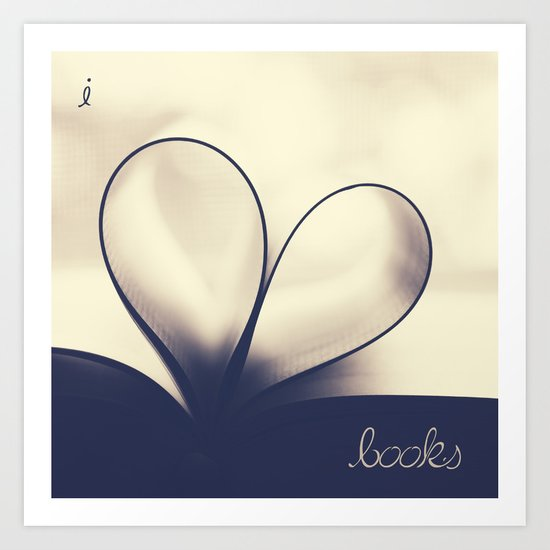 I Heart Books Art Print