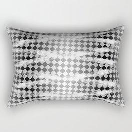 Slim Look Leggings Checkers White Paint Stripes Pattern Rectangular Pillow