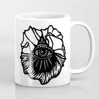 third eye Mugs featuring Third Eye by Cecile Psicheer