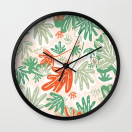 Tropical Abstract Pattern Wall Clock