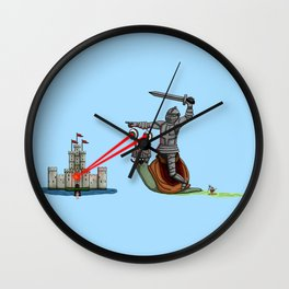 The Knight and the Snail - Random edition Wall Clock