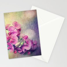 wild sweet peas Stationery Cards