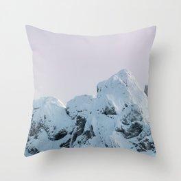 Cloudy sky mountain sunset Throw Pillow