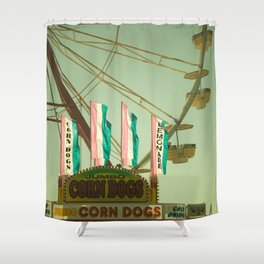 Lemonade & Corn Dogs Shower Curtain