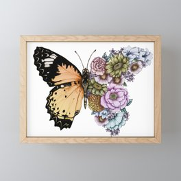 Butterfly in Bloom II Framed Mini Art Print