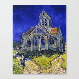 "Vincent Van Gogh ""The Church In Auvers Sur Oise"" Canvas Print"