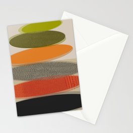 Mid-Century Modern Ovals Abstract Stationery Cards