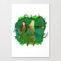 legolas Canvas Prints featuring Legolas by hikary