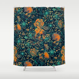 Life and Death Pattern Shower Curtain