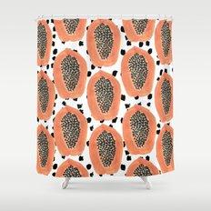 Bold Papayas Shower Curtain