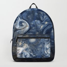 Swirling Blue Clouds of Planet Jupiter from Juno Cam Backpack
