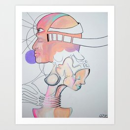 pastel love Art Print