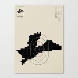 Retro Video Game Shooting Target - Duck Canvas Print