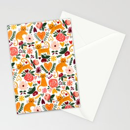 Valentine Cats Stationery Cards