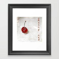 Cherry Red Framed Art Print