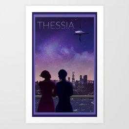 Mass Effect Thessia Travel Poster Art Print
