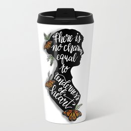 Jane Austen Quote - There is no charm equal to tenderness of heart Travel Mug
