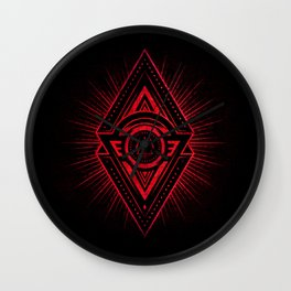 The Eye of Providence is watching you! (Diabolic red Freemason / Illuminati symbolic) Wall Clock