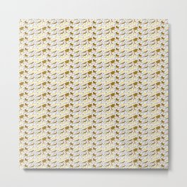 Reformed Bearded Dragons pattern Metal Print