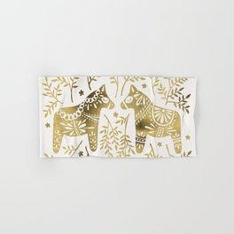 Swedish Dala Horses – Gold Palette Hand & Bath Towel