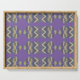 Colorful Arrow Pattern Purple Serving Tray