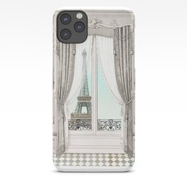 Eiffel Tower room with a view iPhone Case