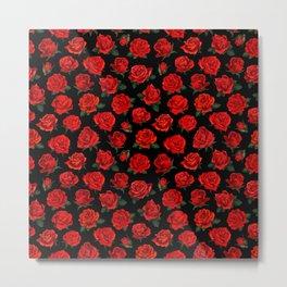 patterned roses Metal Print