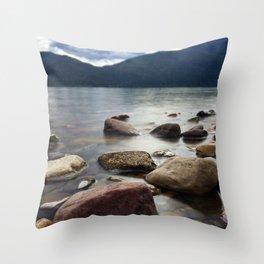 Lake Rocks Throw Pillow