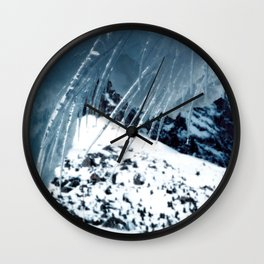 NATURE'S WONDER #1 - Icicles up in the mountains #art #society6 Wall Clock