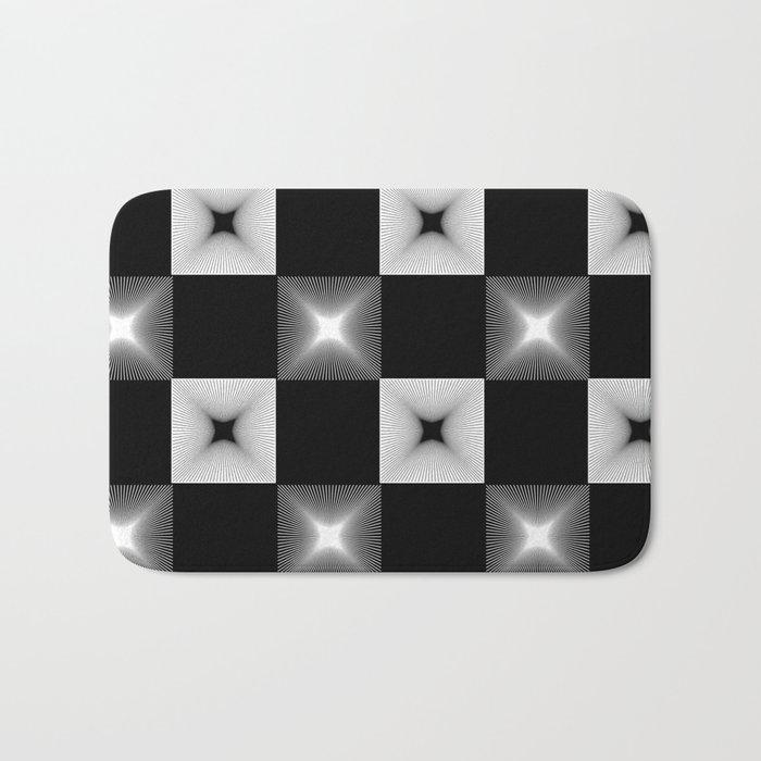 Black And White Illusion Pattern Bath Mat