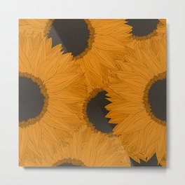 Abstract  sunflowers pattern Metal Print