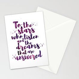 To the stars who listen Stationery Cards