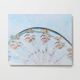 Little Blue Ferris Wheel Metal Print