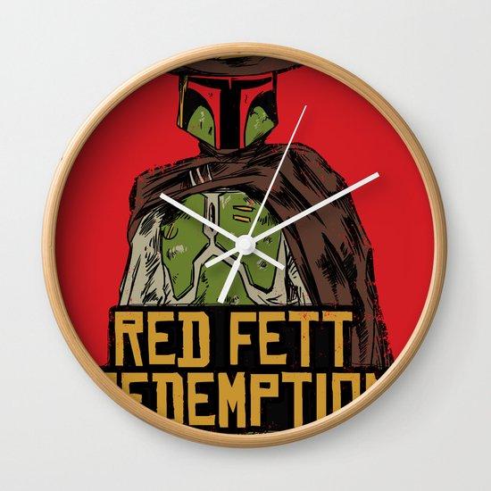 Red Fett Redemption Wall Clock