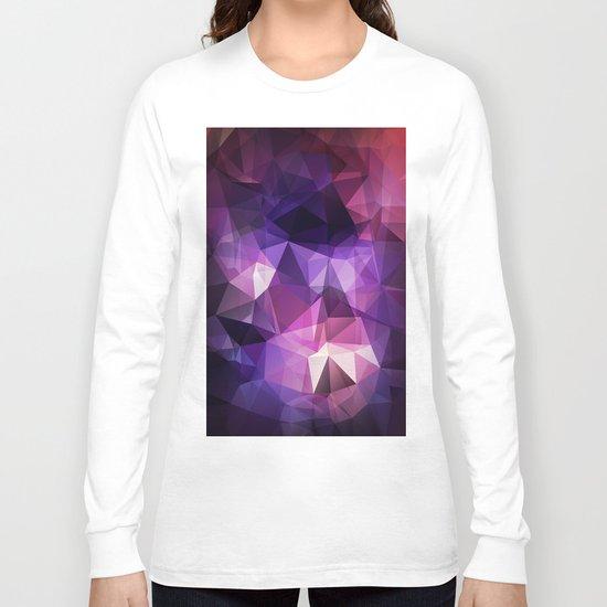 Stylish geometrical print with polygonal triangles Long Sleeve T-shirt