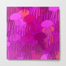Jellyfish Pink Metal Print