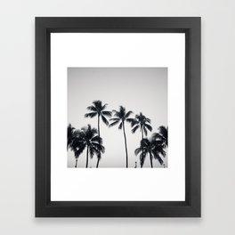 palmtreeeeeee ver.black Framed Art Print