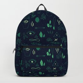 Witchcraft Pattern - Moss Backpack