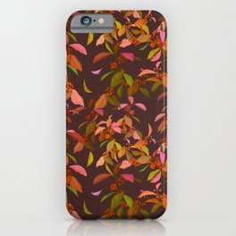Beautyberry on Purple iPhone Case