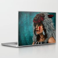 princess mononoke Laptop & iPad Skins featuring .:Princess Mononoke:. by Kimberly Castello